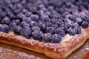 Ready to eat Blueberry Tart Puff Pastry