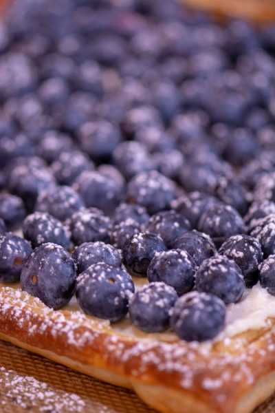 Puff Pastry Blueberry Tart is ready to eat