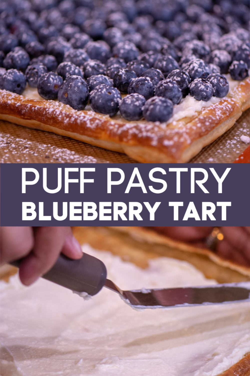 Puff Pastry Blueberry Tart is a fun and refreshing dessert that tastes as good as it looks! #blueberries #puffpastry #dessert