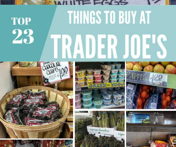 Top things to buy at Trader Joe's Frugal shopping #traderjoes #frugal #shopping #frugalshopping #cheapgroceries #groceryshopping