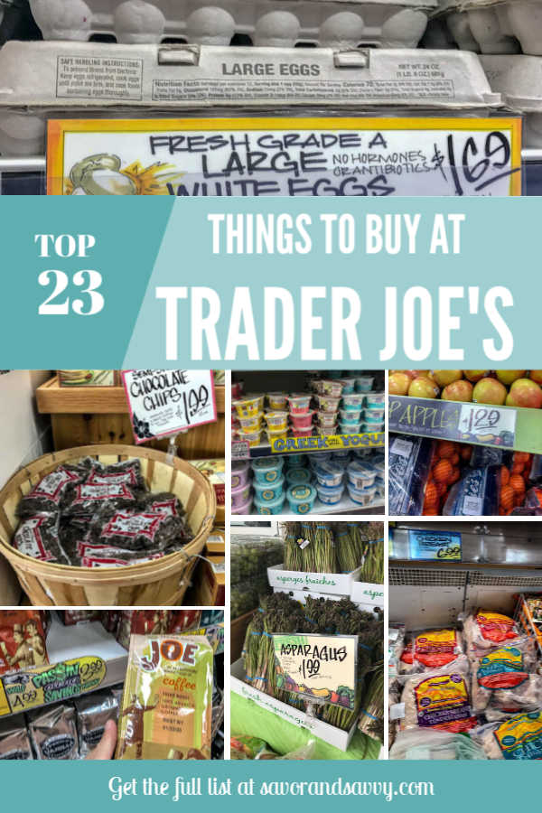 Top things to buy at Trader Joe's Frugal shopping #traderjoes #frugal #shopping #frugalshopping #cheapgroceries #groceryshopping