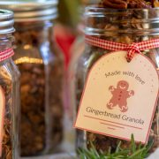 Several jars filled with granola