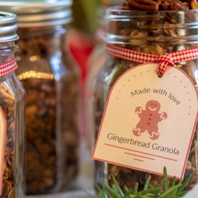 Gingerbread Granola Recipe with a Free Printable