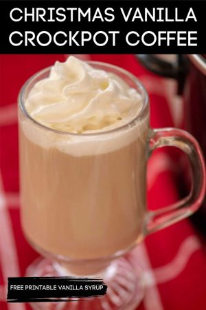 Slow Cooker Christmas Coffee is a Delicious Drink for the Holiday Morning. Enjoy it while the Kids are opening gifts! #Vanilla #Coffee #ChristmasCoffee