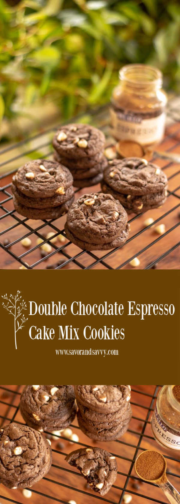 My fave cookie! Double Chocolate Espresso Cake mix Cookies are Delish! #cakemix #cookies #CakeMixCookies #Christmas #Holiday