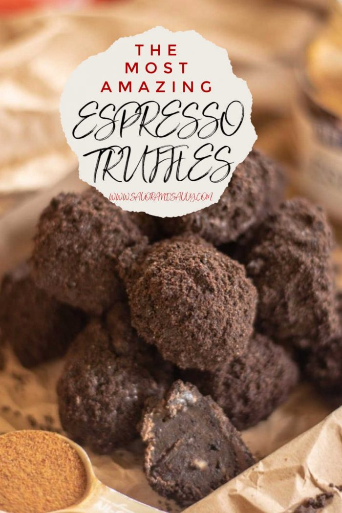 Amazingly Rich and Creamy Chocolate Espresso Oreo Truffles are fun and easy to make. These will be a big hit at the cookie exchange #Truffles #oreo #Christmas #Cookies #CookieExchange