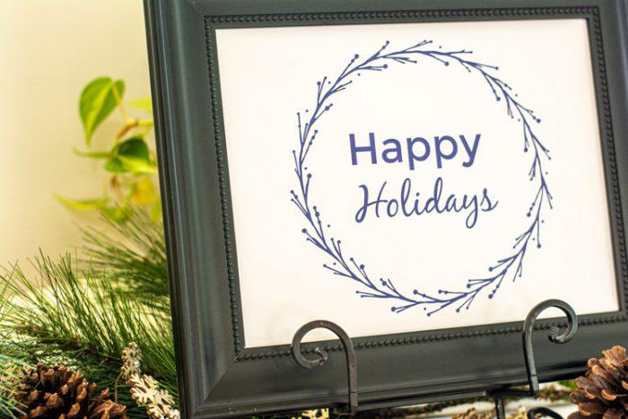 Happy Holidays Free Printable