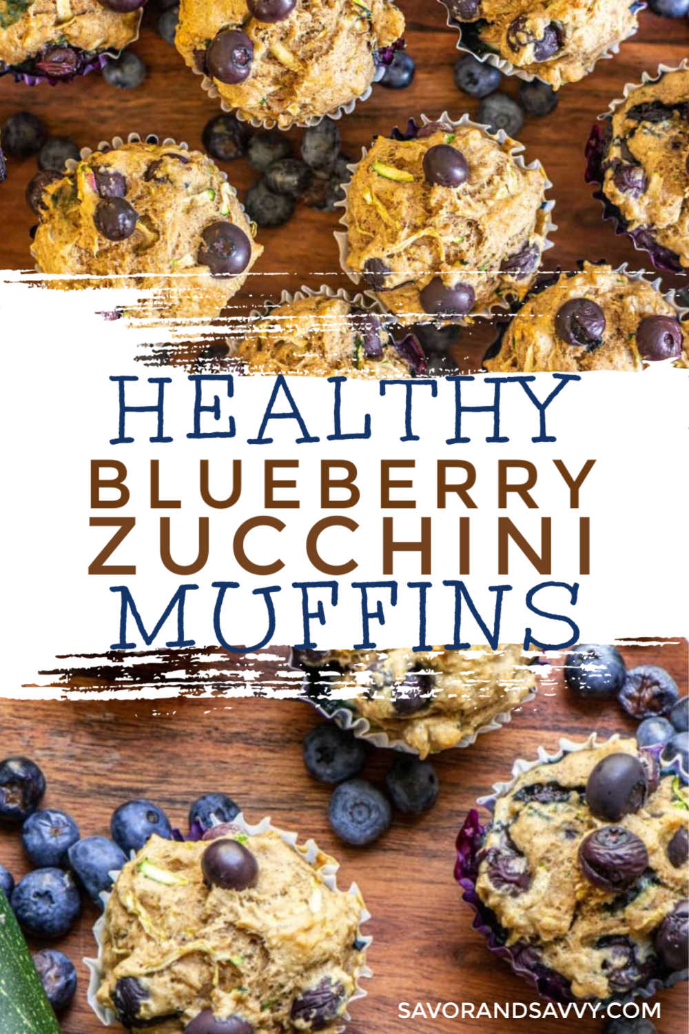 Healthy Blueberry Zucchini Muffins {25 Minutes}