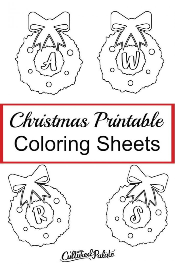 Christmas Free Printable Coloring sheets for kids