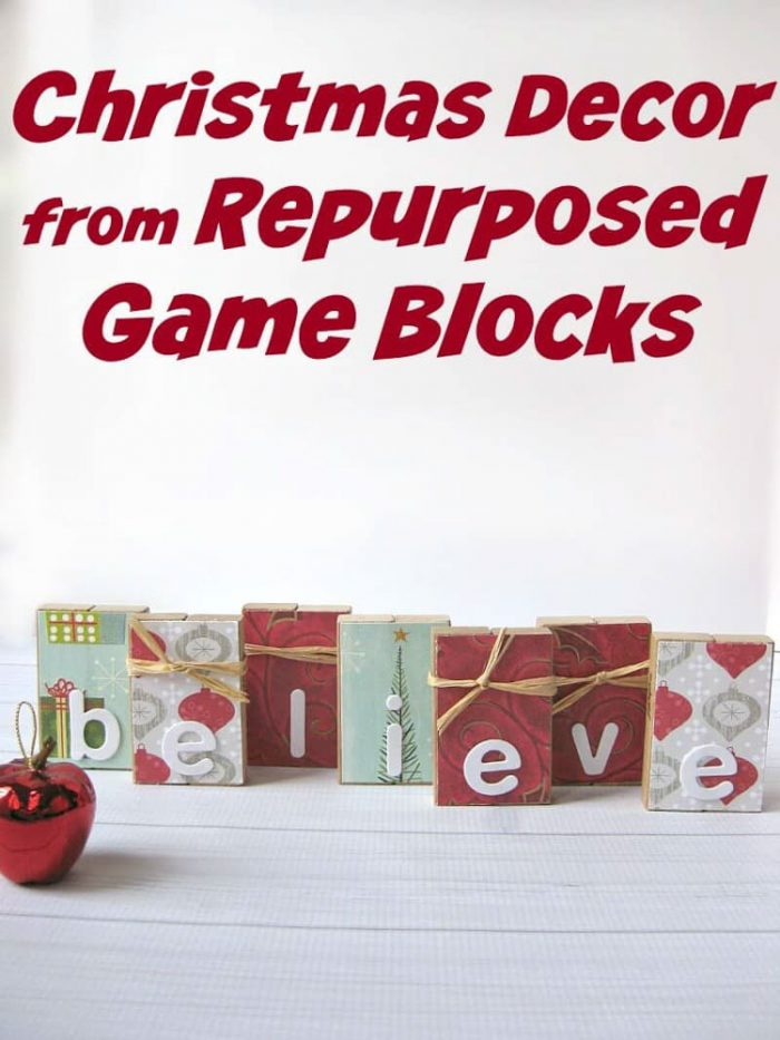 Game Blocks decorated for the holidays