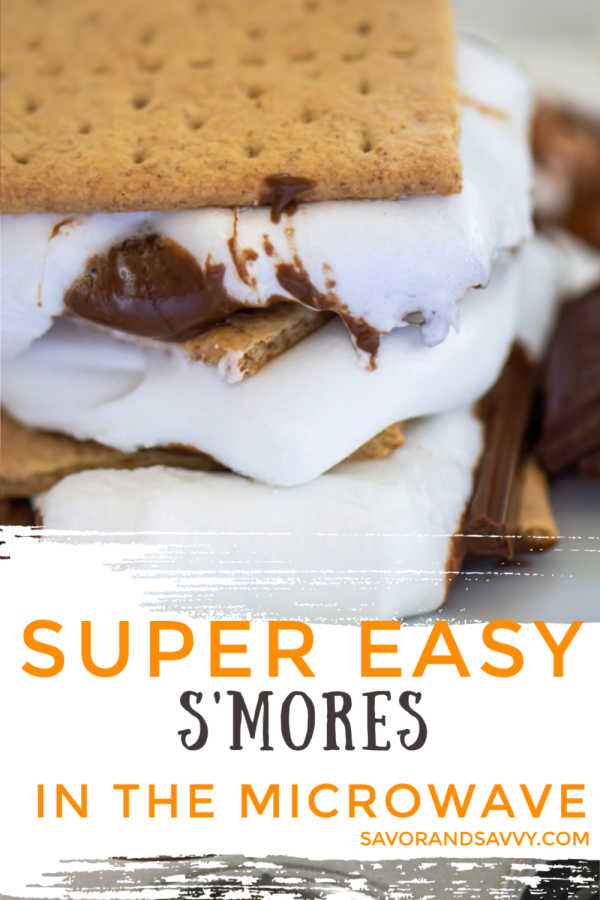 Two different ways to make Microwave S'mores for a fun campfire treat when you just can't make it out to the woods. This is a fun and delicious treat that takes less than five minutes to put together. #smores #microwavesmores