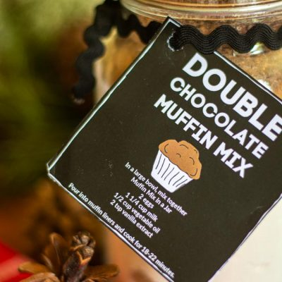 Double Chocolate Muffin in a Jar With a Free Printable