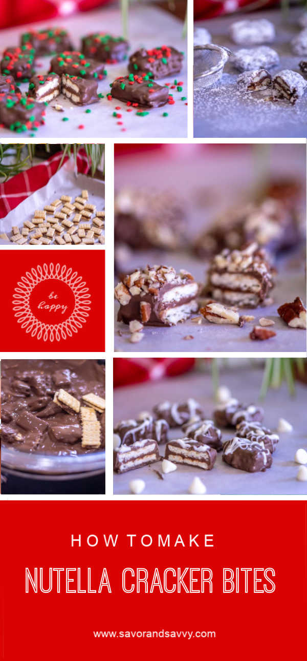 Nutella Cracker Bites for a Delicious Holiday Treat! Perfect for the next Cookie Exchange and so easy to make! #nutella #crackers #cookie #christmas #CookieExchange #SeaSalt #Chocolate