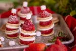 Gorgeous Christmas Pancake Skewers held together with Toothpicks