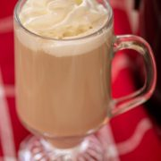 Close up of the holiday coffee