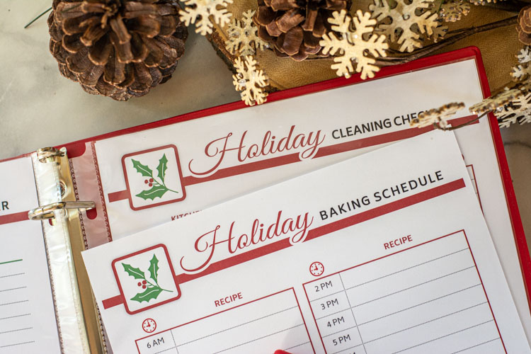 Baking Schedule and Cleaning Checklist