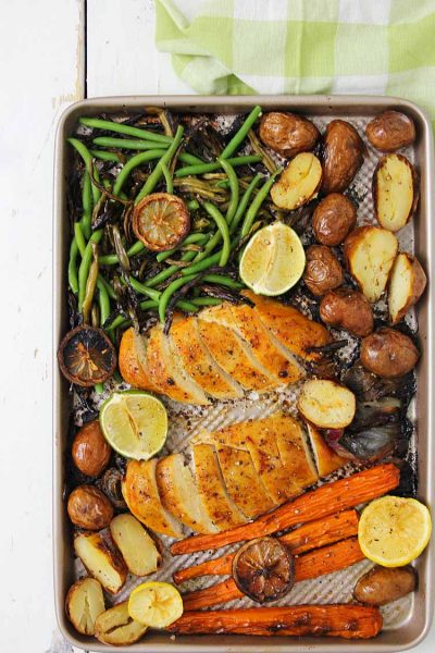 Honey Balsamic Sheet Pan Chicken and Veggies