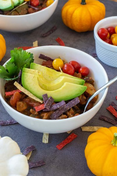 Slow Cooker Black Bean Pumpkin Chili