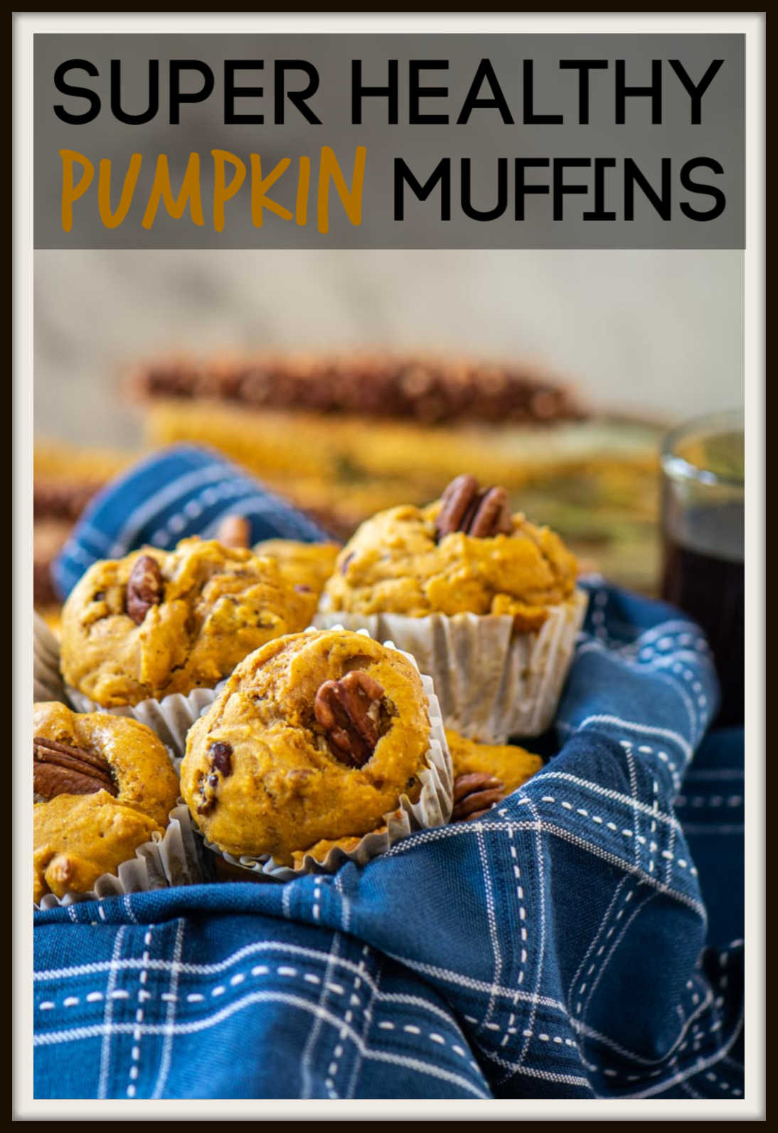 Healthy Pumpkin Yogurt Muffins are Delish! Made with all natural ingredients, this is a snack you'll be happy to give your kids. Made in just a few minutes, this is a perfect snack for a fall morning! #pumpkin #muffins #pumpkinmuffins #craisins #pecans