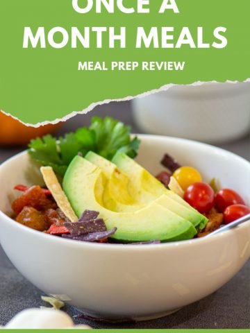 Meal Prepping Review for the Once a Month Meals Service. This is a Huge Freezer Meal Friendly Service that makes cooking for the week so much easier and helps you save a lot of money! #OAMM #MealPrep #FreezerMeals #OnceAMonthMeals