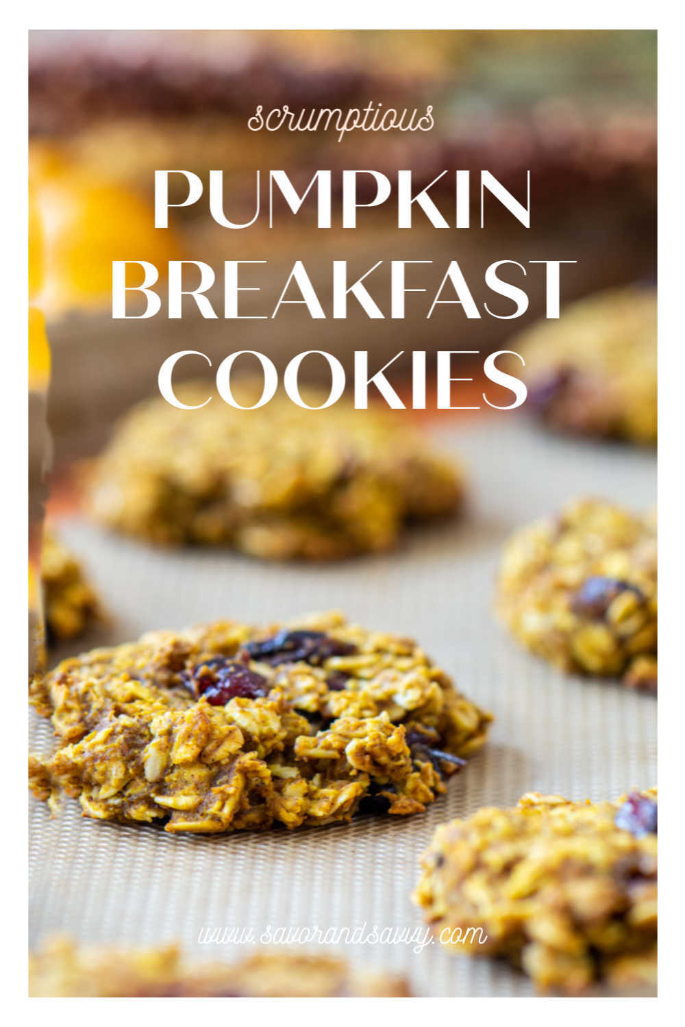 Phenomenal Pumpkin Oatmeal Breakfast Cookies are a FANTASTIC meal prep breakfast for busy families. Make ahead on Sunday to last the whole week and you will love this wholesome, healthy option for your busy life! #pumpkin #breakfastcookies #pumpkincookies #mealprep