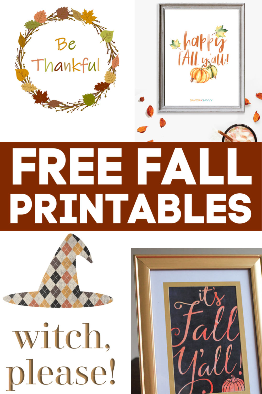 Free Fall Printables are a great way to decorate your home for the autumn season. These adorable fall colors are perfect for the autumn! #printables #fallprintable #autumn