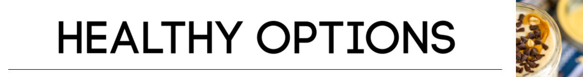 banner for the healthy options