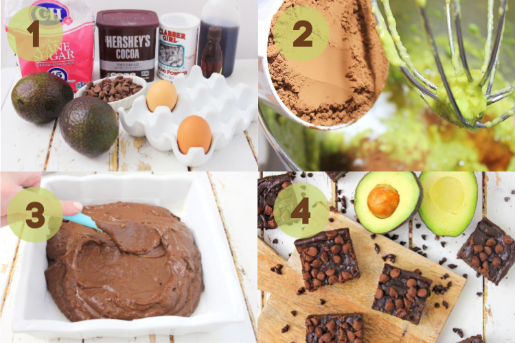 four step process shots for making the brownies