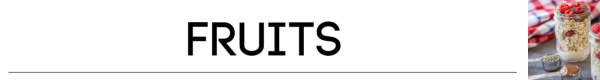 banner for fruits section