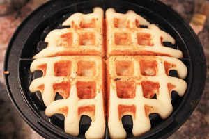 Coconut Flour Waffle in the Waffle Iron