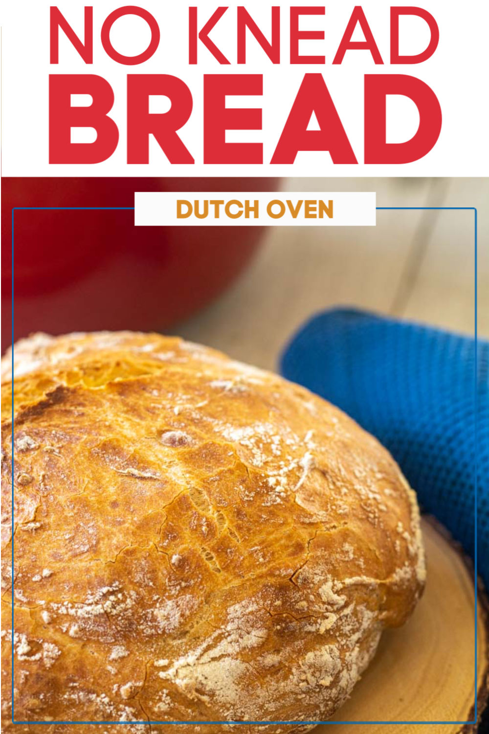 No knead dutch oven bread is a classic old recipe that will get you hooked on baking. This does not require any complicated preparation. Let it rise on the counter overnight and bake it the next day for a soft and fluffy bread with a crispy crust. #noknead #bread #dutchoven #castiron #yeast