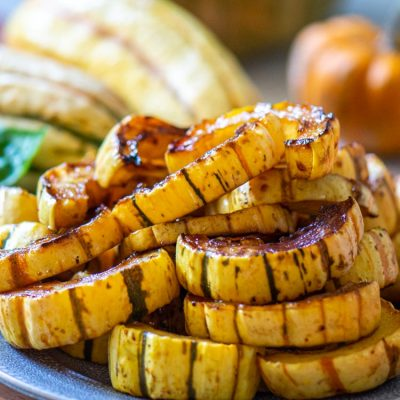 Sheet Pan Roasted Delicata Squash Rings