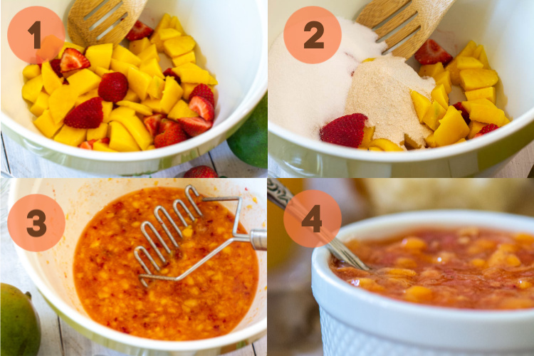 Simple fours steps to make delicious freezer jam