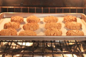 Sun Butter Cookies in the oven
