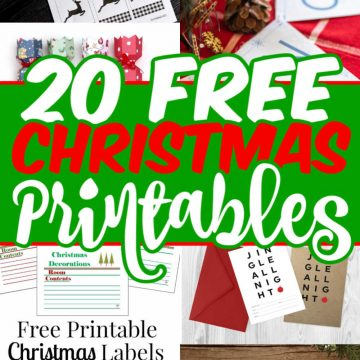 Collage of free holiday printables