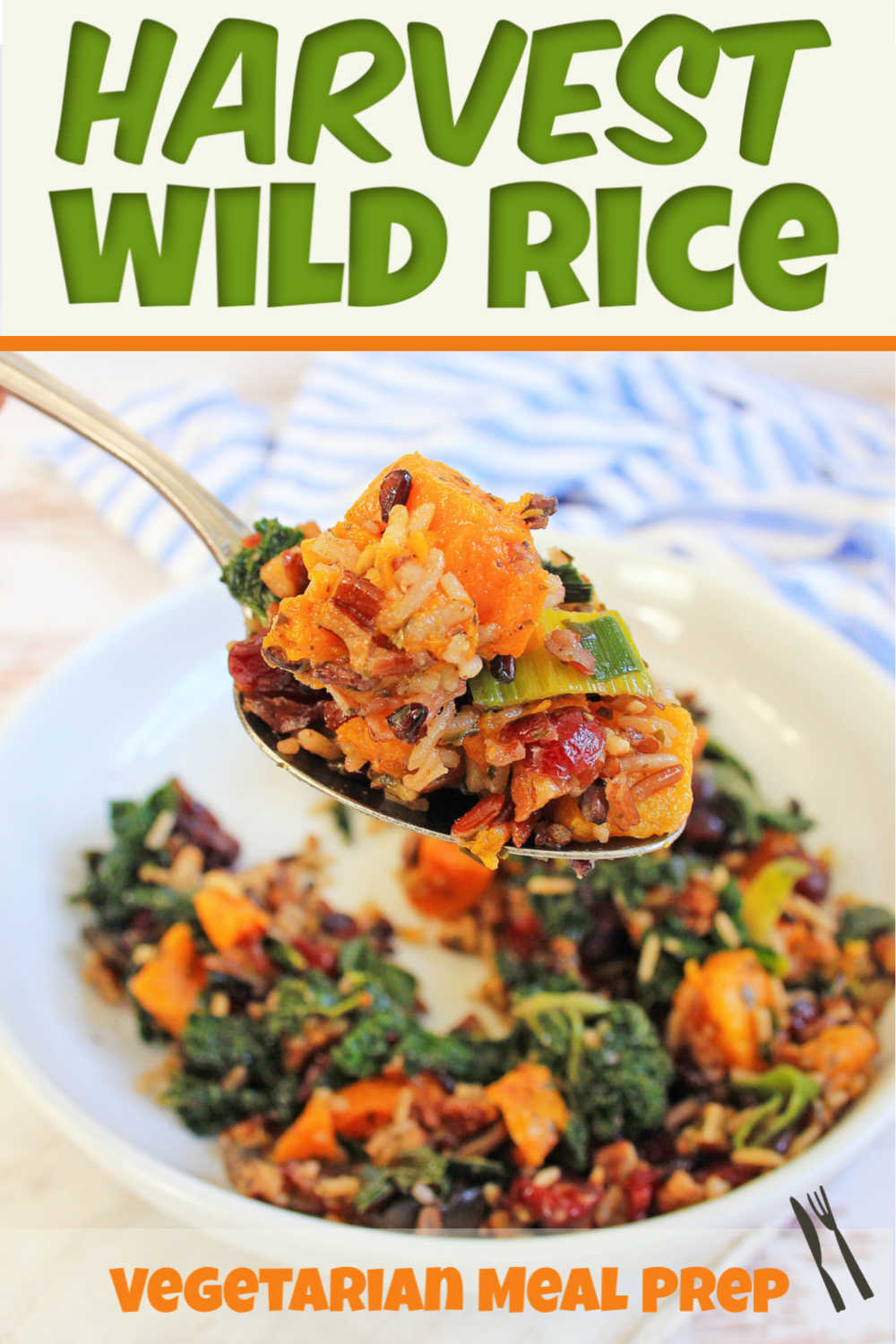 Scrumptious Harvest Wild Rice Recipe filled with sweet potatoes, kale, basmati and wild rice. This vegetarian meal can be made vegan with a simple butter substitute. Healthy and Filling! #WildRice #Vegetarian #Vegan