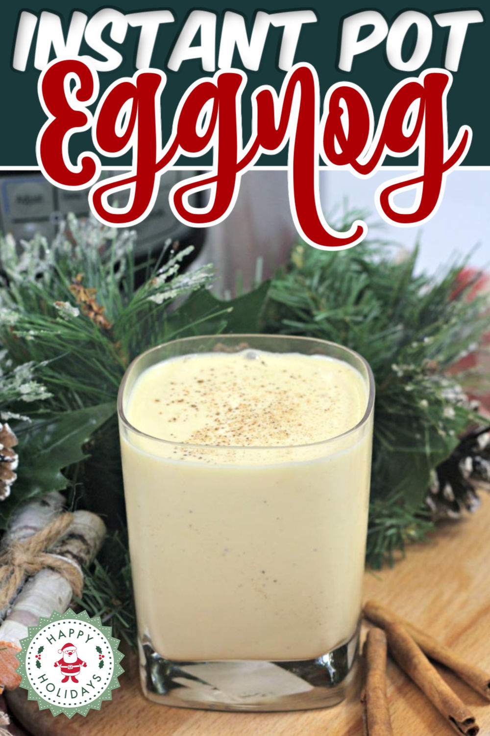 Instant Pot Eggnog is the perfect holiday treat. Easy to make and serve, this delicious Christmas eggnog will certainly have you celebrating the yuletide season!