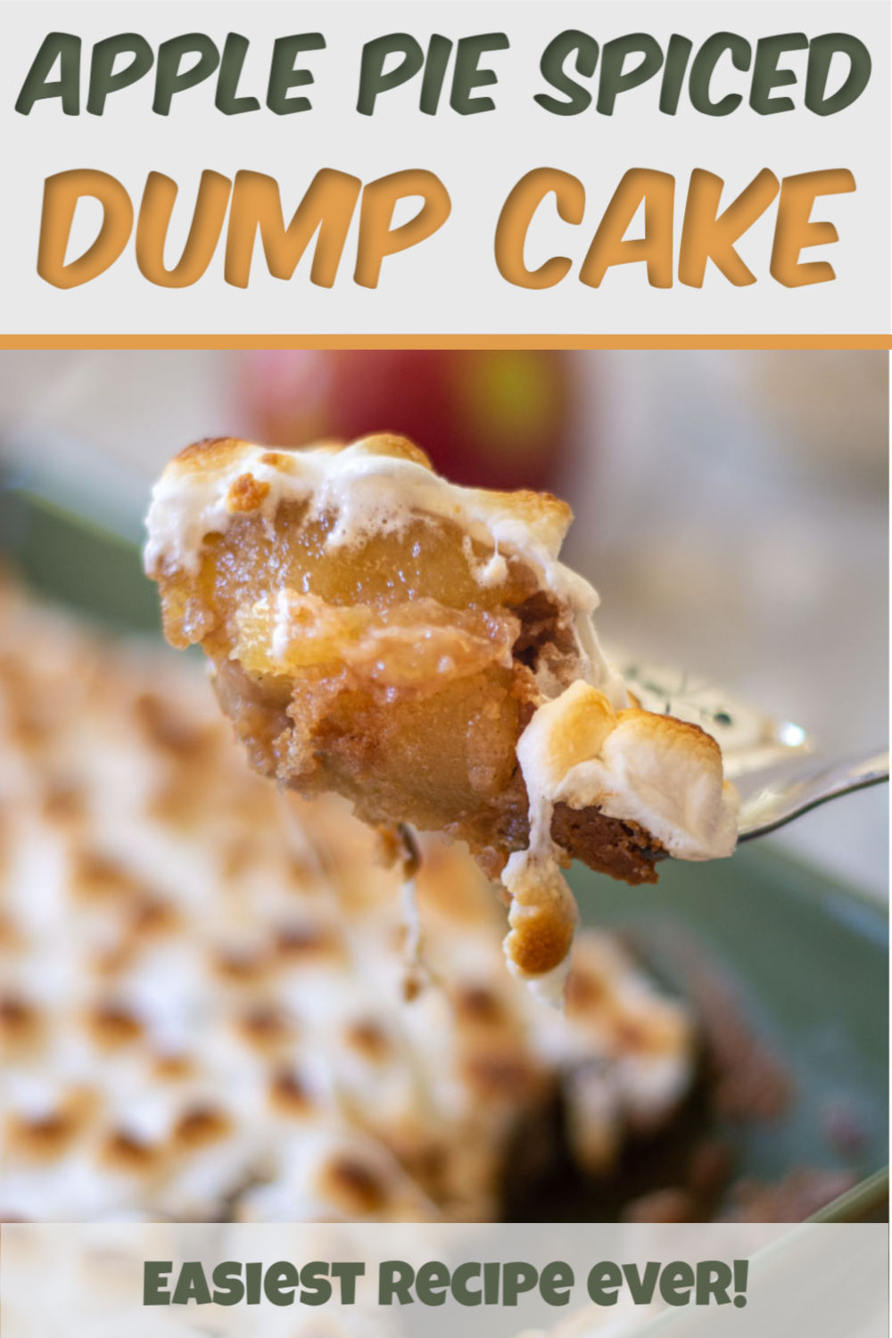 Marshmallow Apple Pie Spice Dump Cake {4 Ingredients}