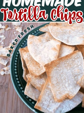 Amazing and Delicious Homemade Baked Corn Tortilla Chips. A Frugal Way to make your own chips at home and much healthier than store bought