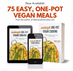 three options to purchase the weeknight one-pot vegan cooking