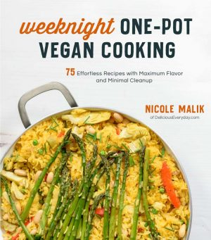 Book cover of weeknight on-pot vegan cooking