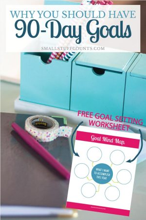 90 days of goals setting worksheet