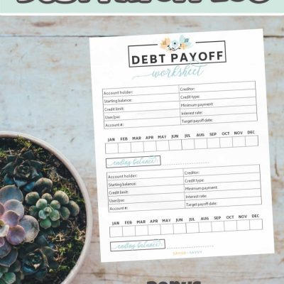 Free Debt Payoff Printable – Worksheet Tool