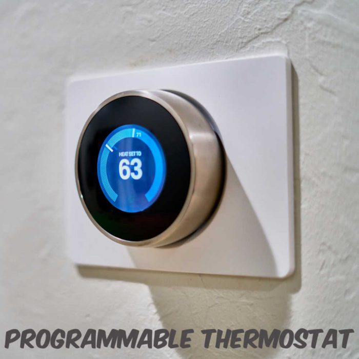 Use a programmable thermostat to manage your home's temperature