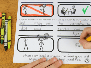 free printable worksheet for kids to fill out on their kindness resolution for the next year