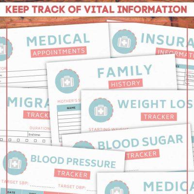 Free Printable Medical Binder with Worksheets