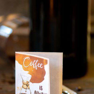Free ☕ Coffee Notecards – Printable Cards