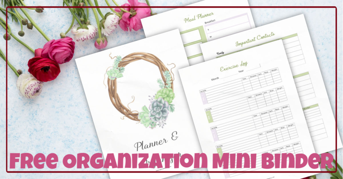Roses and Organization and planning printable pages