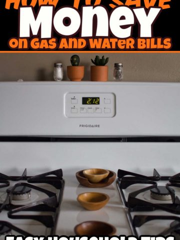 photo of a gas stove and money saving tips