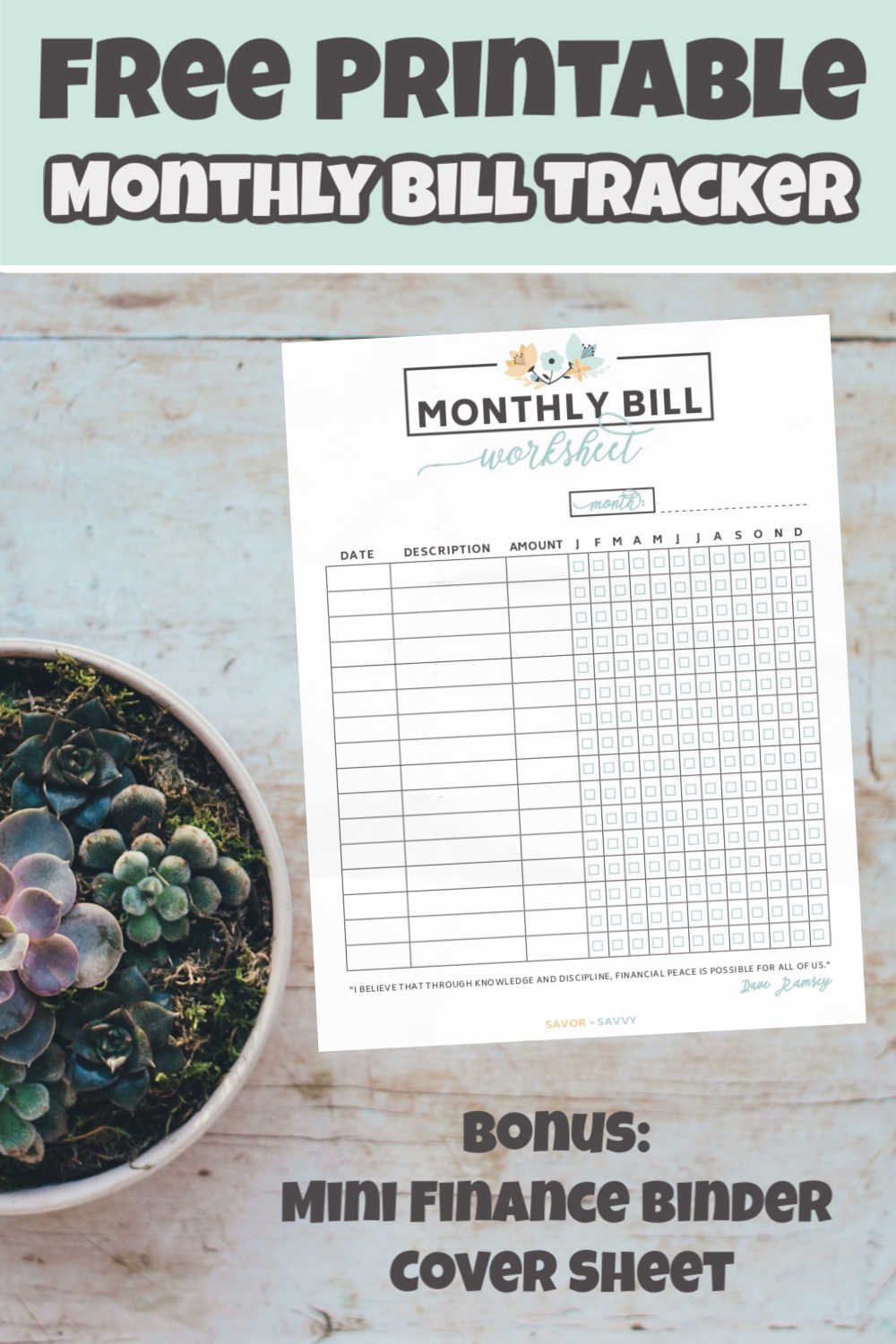 How to Completely Change the Way You Pay Bills! Free Printable Bill Worksheet